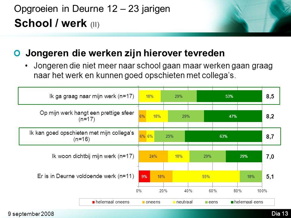 School / werk (II) Opgroeien in Deurne 12 – 23 jarigen