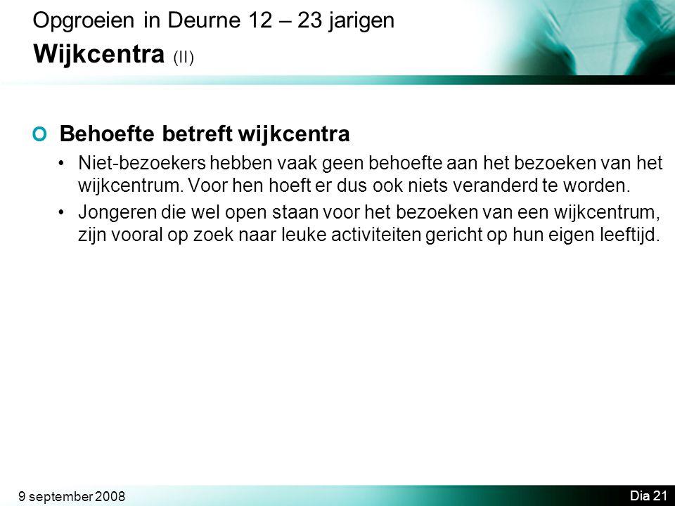 Wijkcentra (II) Opgroeien in Deurne 12 – 23 jarigen