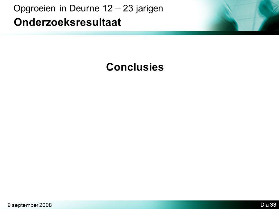 Onderzoeksresultaat Conclusies Opgroeien in Deurne 12 – 23 jarigen