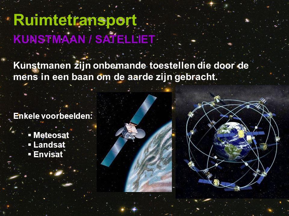 Ruimtetransport KUNSTMAAN / SATELLIET