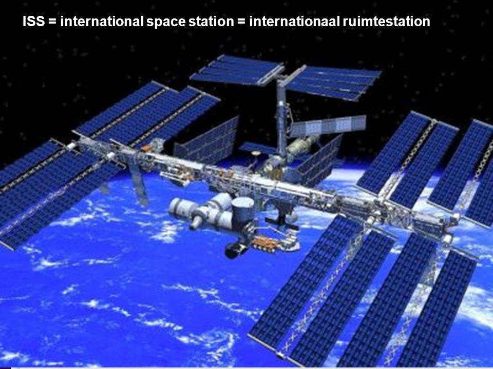 ISS = international space station = internationaal ruimtestation