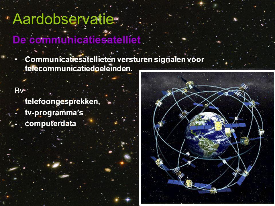 Aardobservatie De communicatiesatelliet