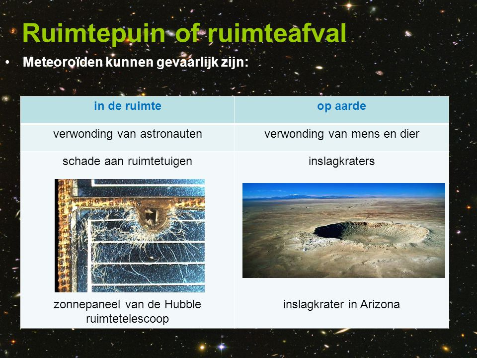 Ruimtepuin of ruimteafval