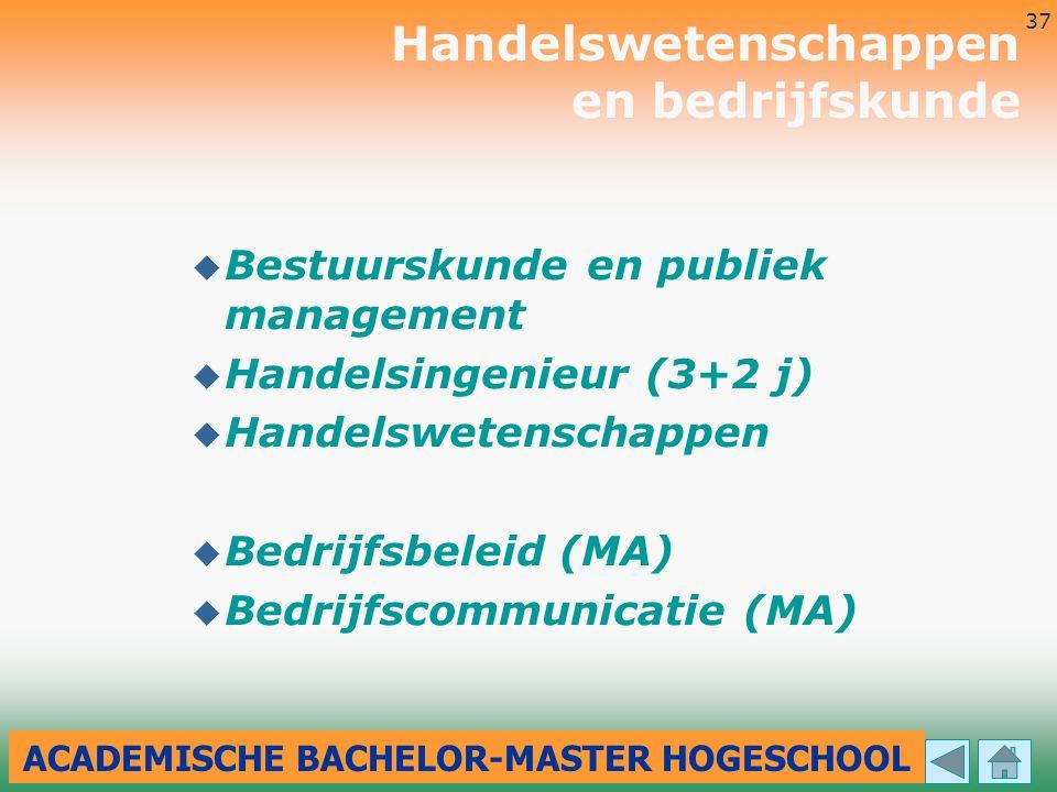 ACADEMISCHE BACHELOR-MASTER HOGESCHOOL