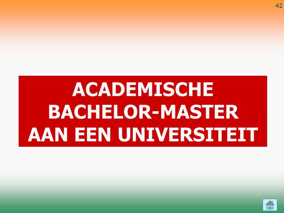 ACADEMISCHE BACHELOR-MASTER AAN EEN UNIVERSITEIT