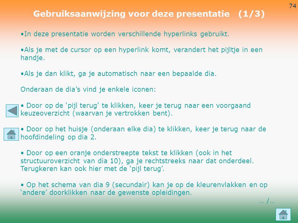 Gebruiksaanwijzing voor deze presentatie (1/3)