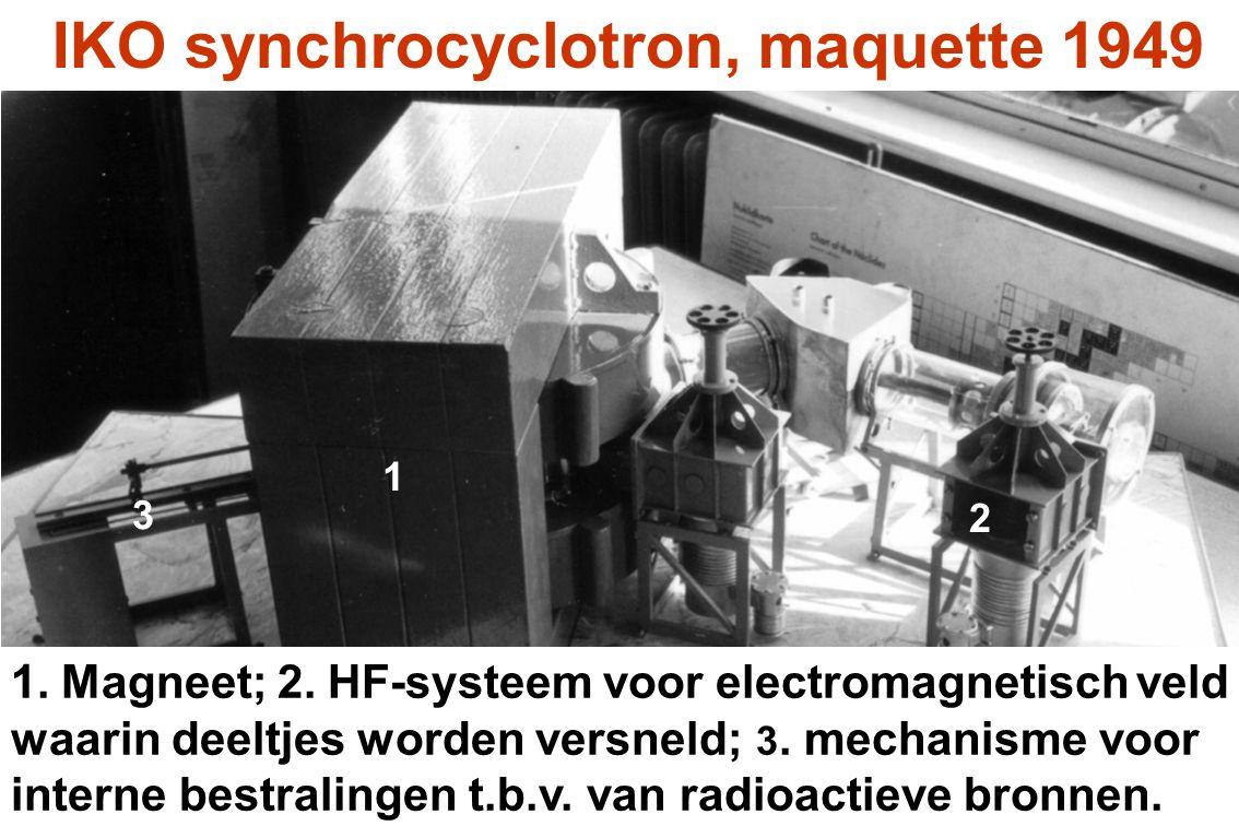 In het cyclotron worden de deeltjes versneld