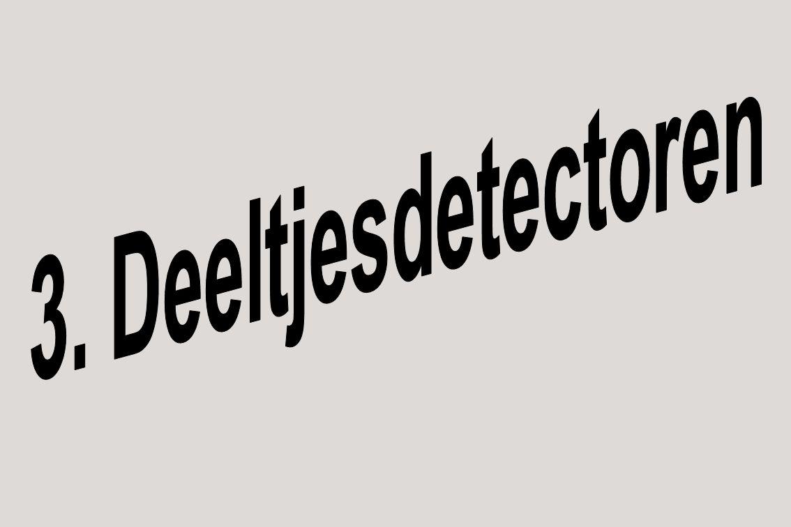 Deeltjesdetectoren Van de verschillende soorten detectoren waren de nieuwste en de beste: silicium halfgeleiderdetectoren.