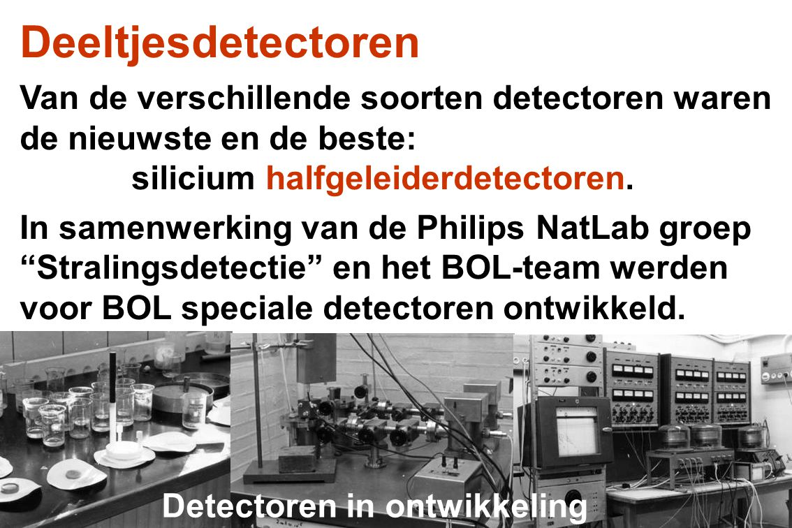 Iedere poot kreeg een detectietelescoop op-gebouwd uit verschillende elementen: