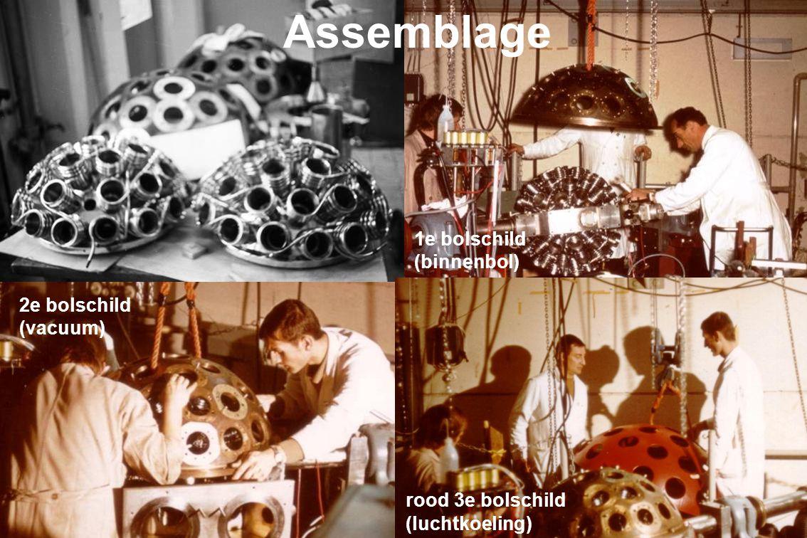Het skelet van BOL bijna gereed voor het monteren van detector-poten met elektronica.