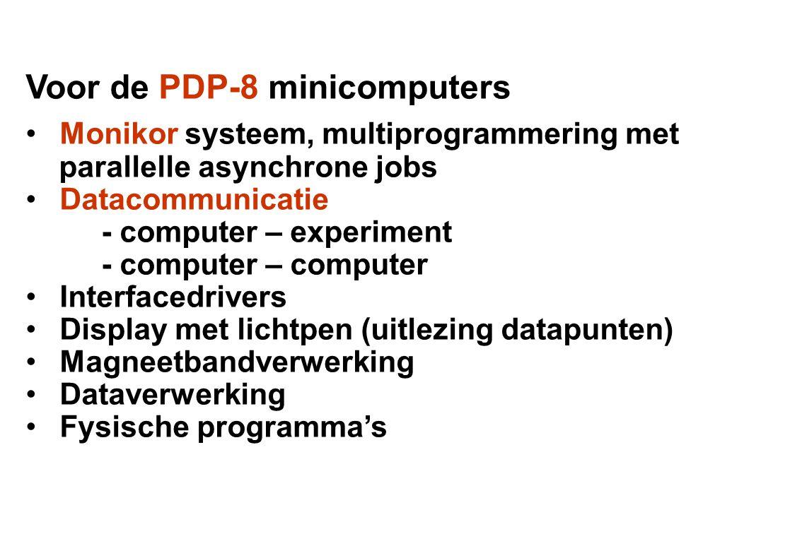 Voor de Philips-Electrologica X8 computer