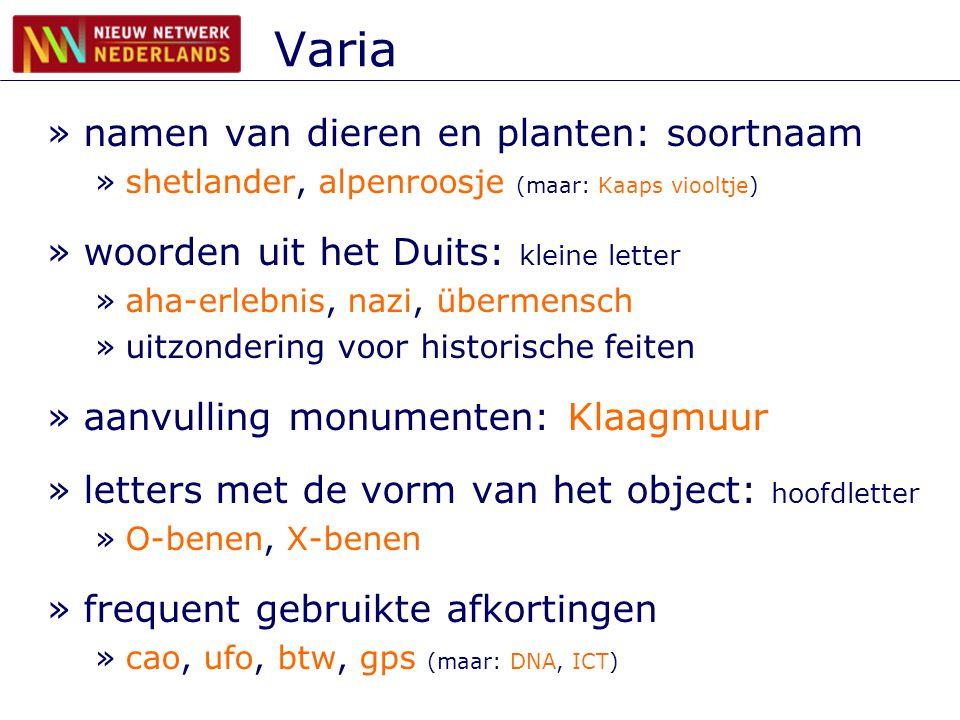 Varia namen van dieren en planten: soortnaam