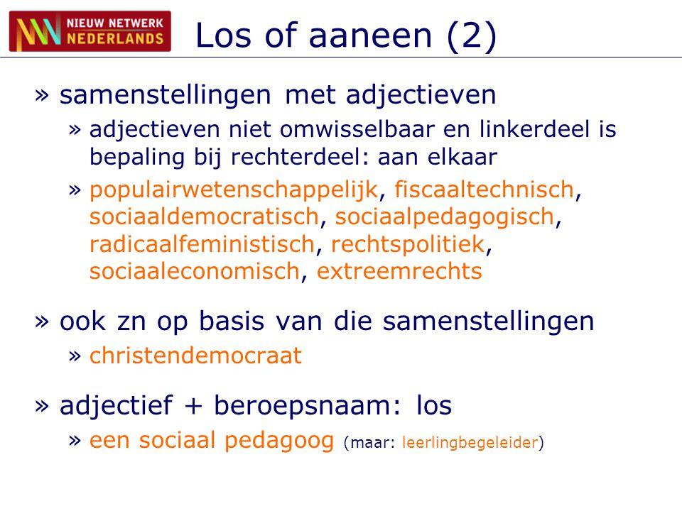 Los of aaneen (2) samenstellingen met adjectieven
