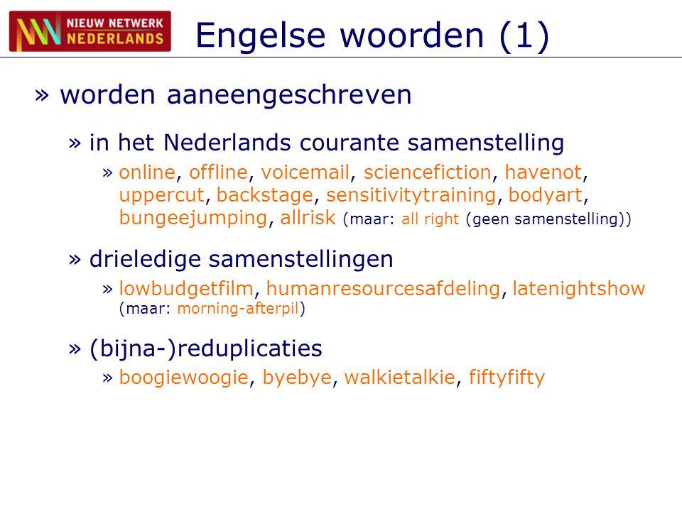 Engelse woorden (1) worden aaneengeschreven