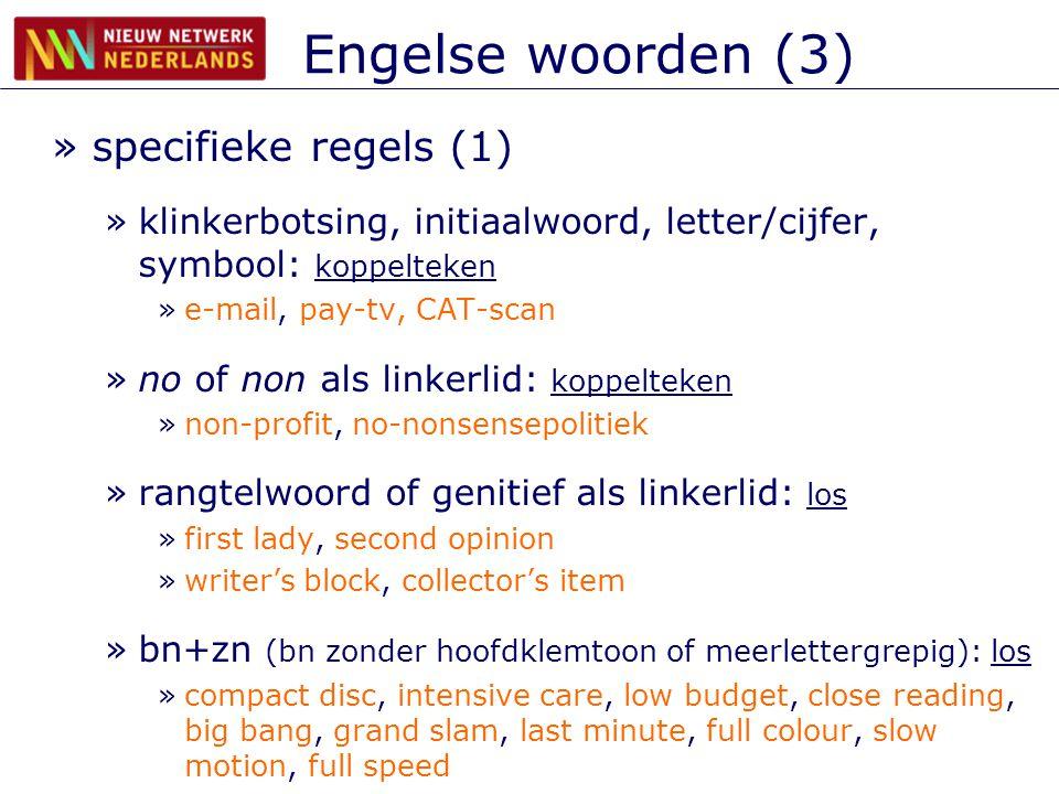 Engelse woorden (3) specifieke regels (1)