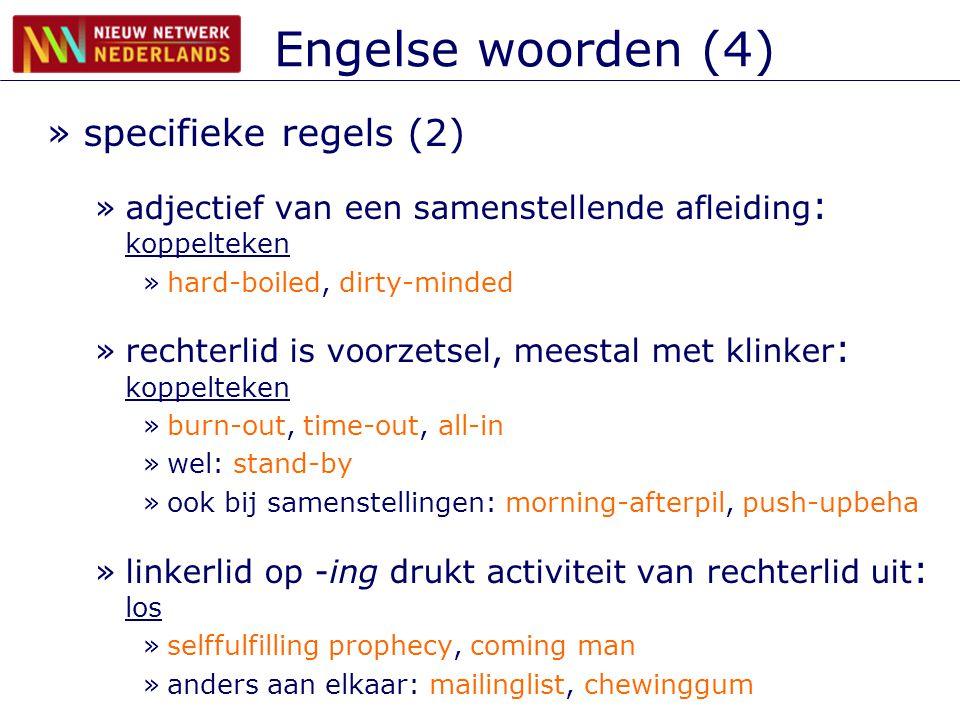 Engelse woorden (4) specifieke regels (2)