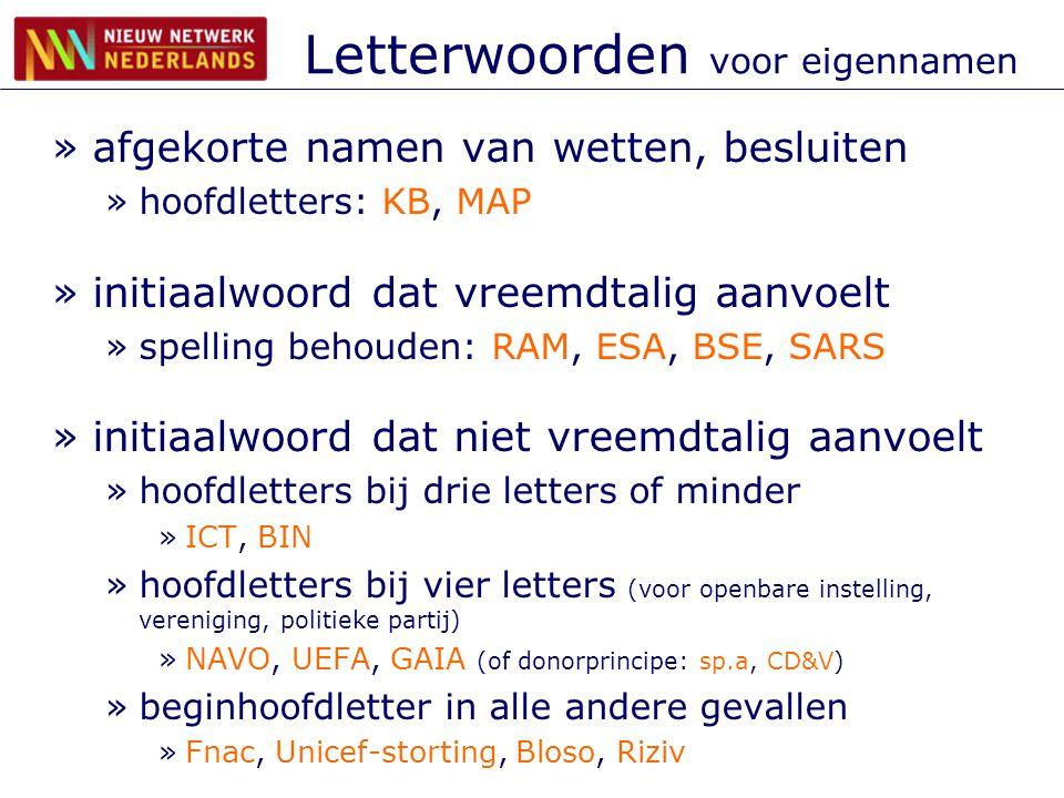 Letterwoorden voor eigennamen