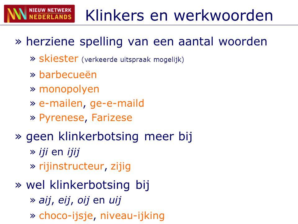 Klinkers en werkwoorden