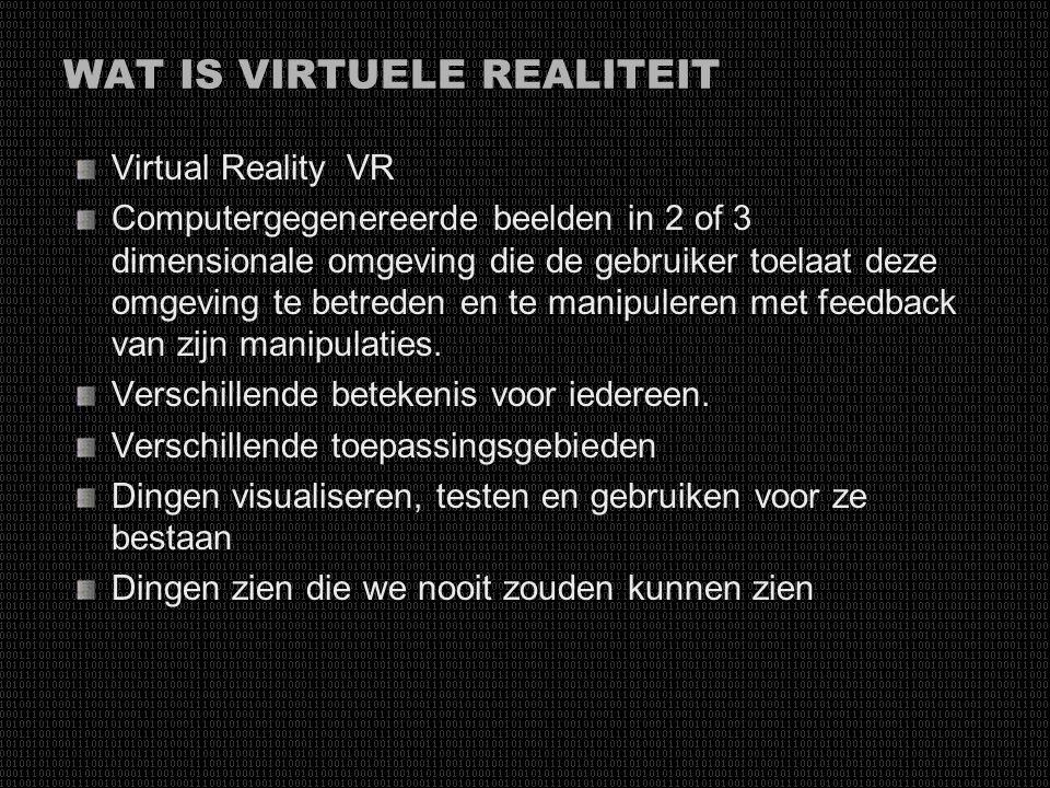 WAT IS VIRTUELE REALITEIT