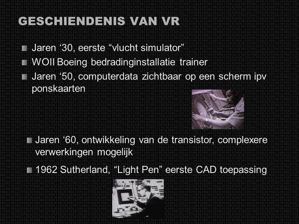 GESCHIENDENIS VAN VR Jaren '30, eerste vlucht simulator