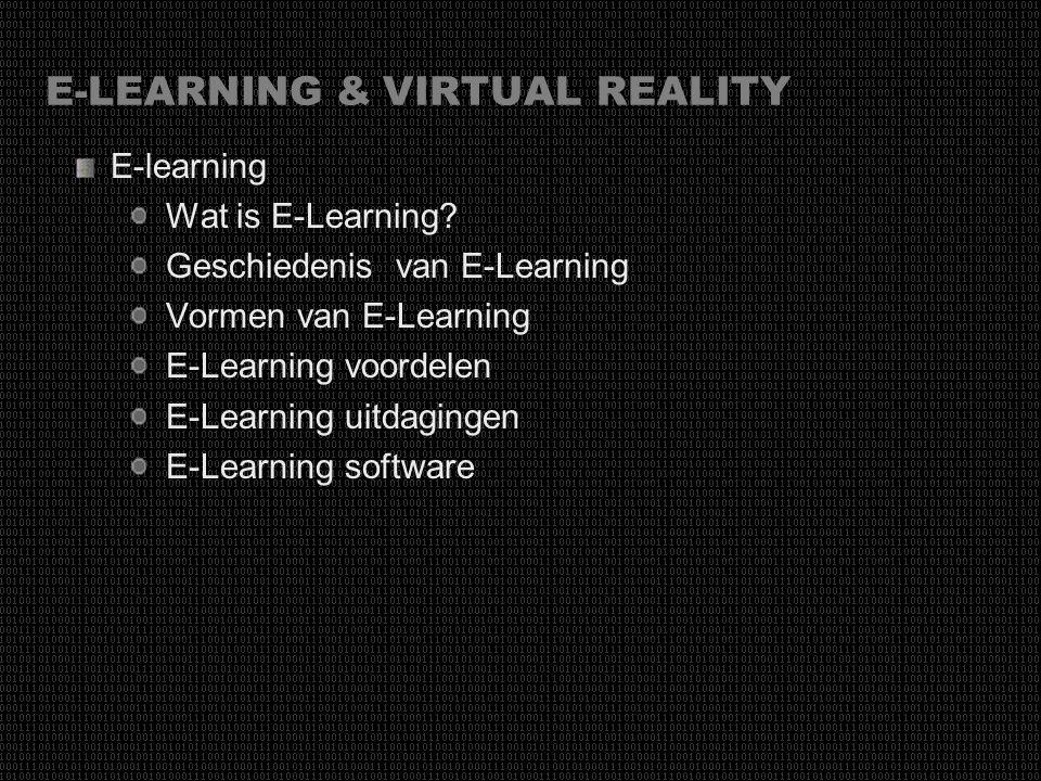 E-LEARNING & VIRTUAL REALITY