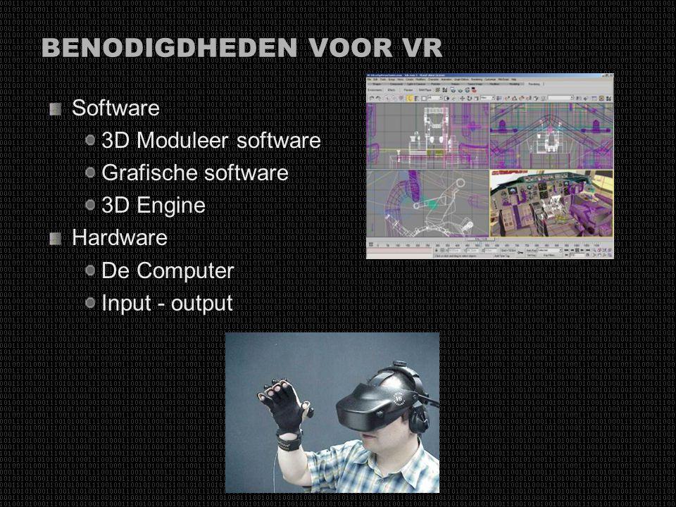 BENODIGDHEDEN VOOR VR Software 3D Moduleer software Grafische software