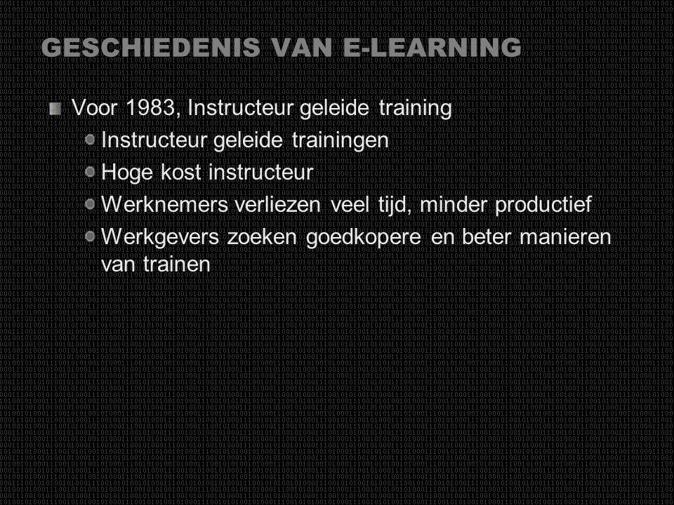 GESCHIEDENIS VAN E-LEARNING