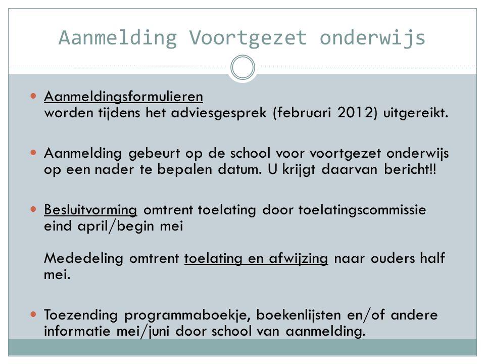 Aanmelding Voortgezet onderwijs