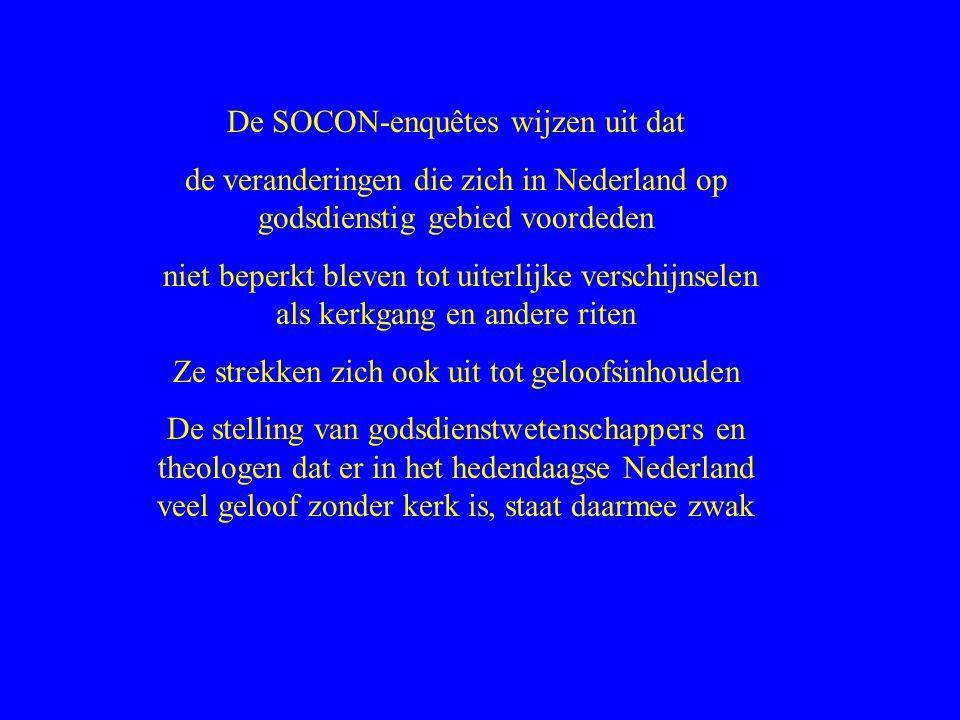 De SOCON-enquêtes wijzen uit dat
