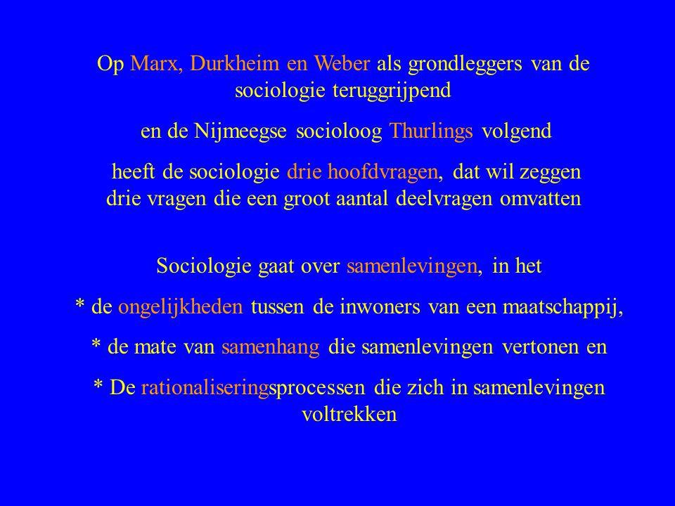 en de Nijmeegse socioloog Thurlings volgend
