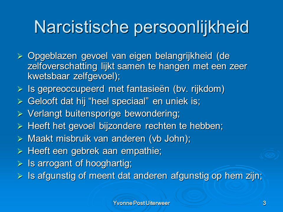 Narcistische persoonlijkheid