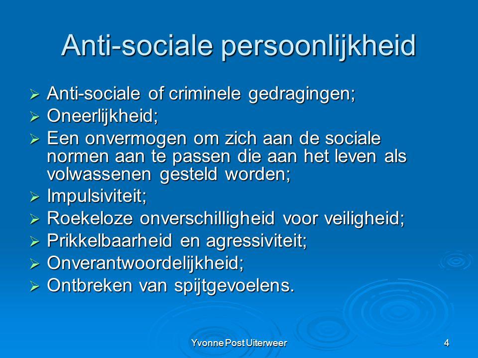 Anti-sociale persoonlijkheid