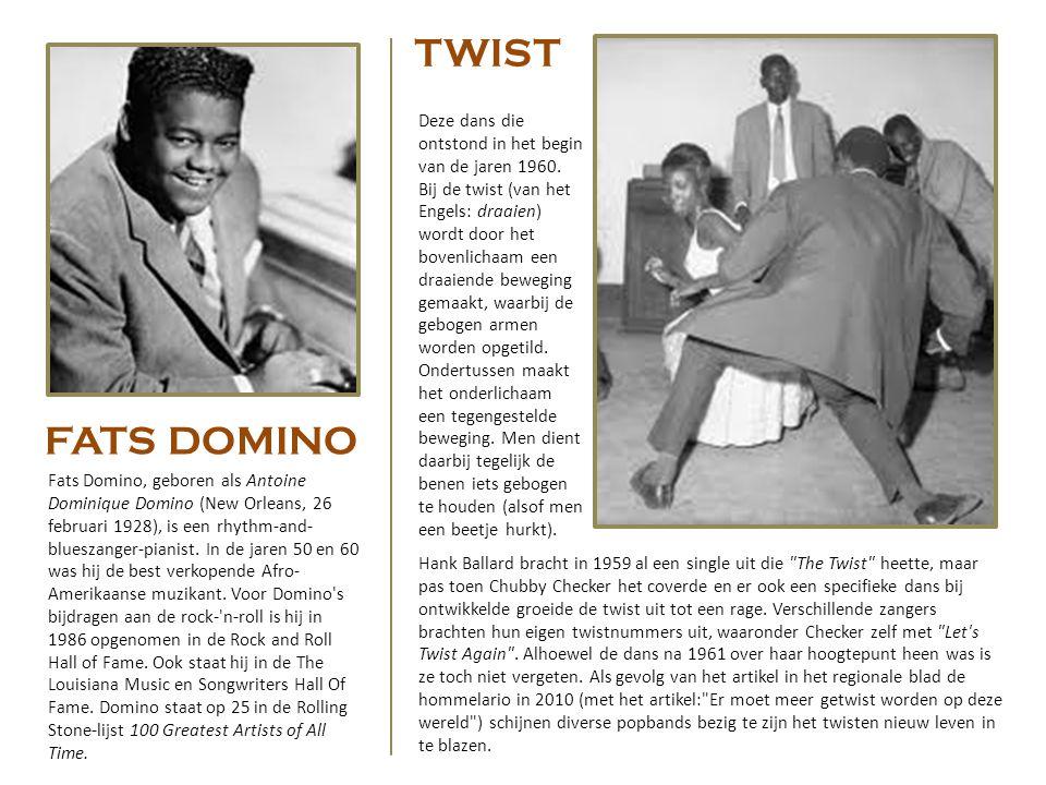 TWIST Deze dans die ontstond in het begin van de jaren 1960.
