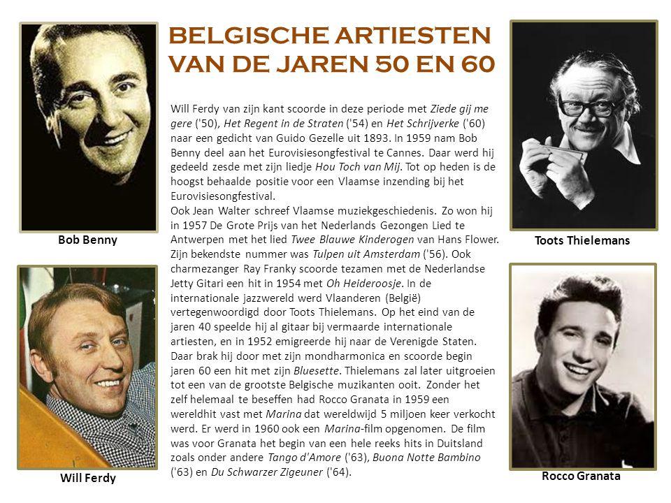 BELGISCHE ARTIESTEN VAN DE JAREN 50 EN 60 Bob Benny Toots Thielemans
