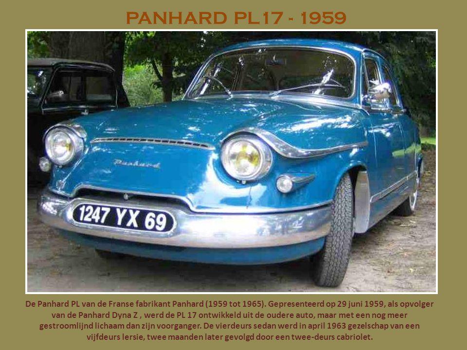 PANHARD PL17 - 1959