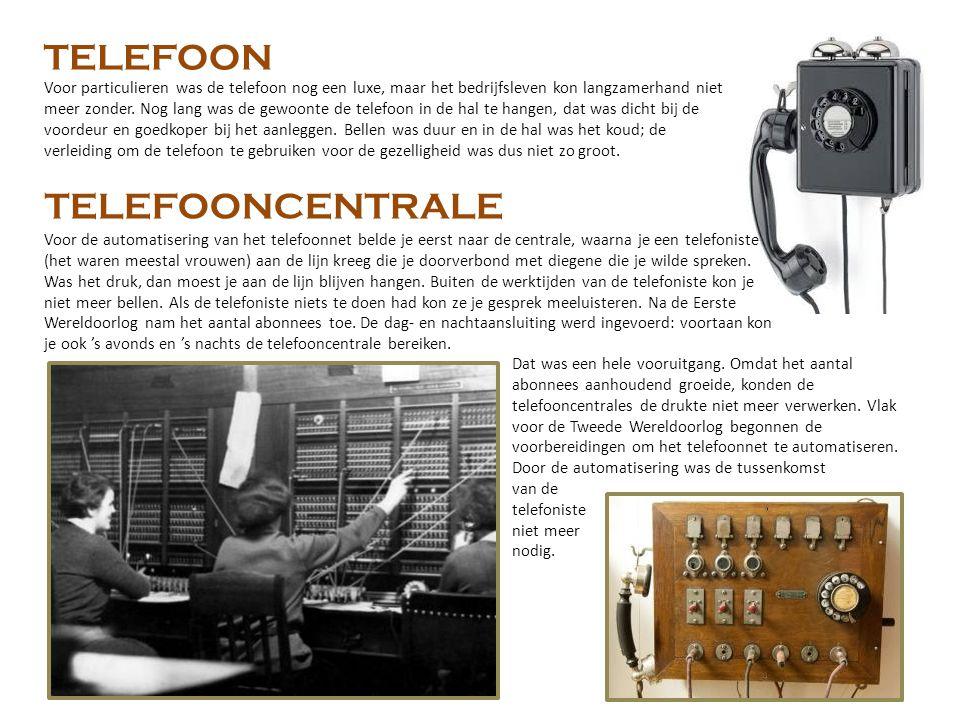 TELEFOON TELEFOONCENTRALE