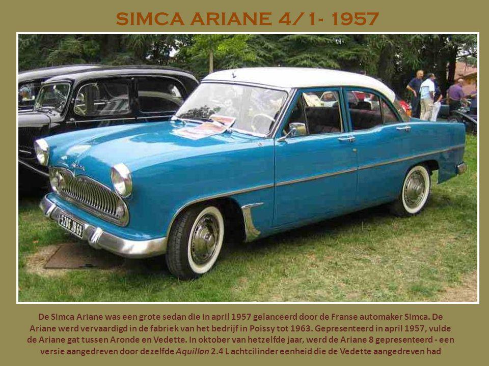 SIMCA ARIANE 4/1- 1957