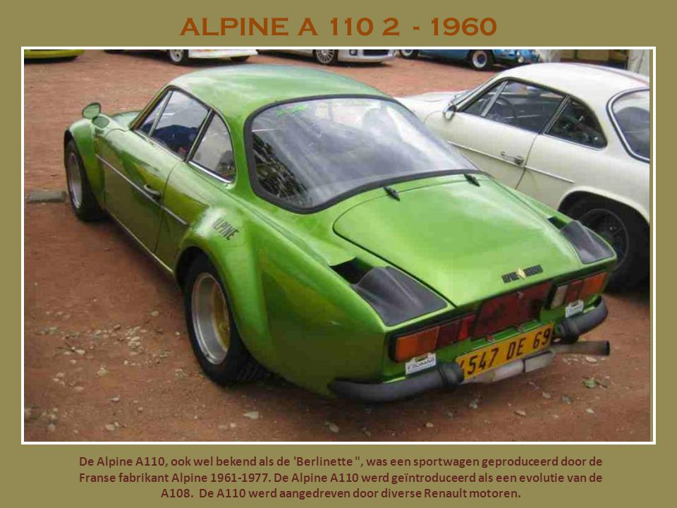 ALPINE A 110 2 - 1960