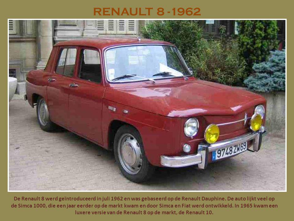 RENAULT 8 -1962