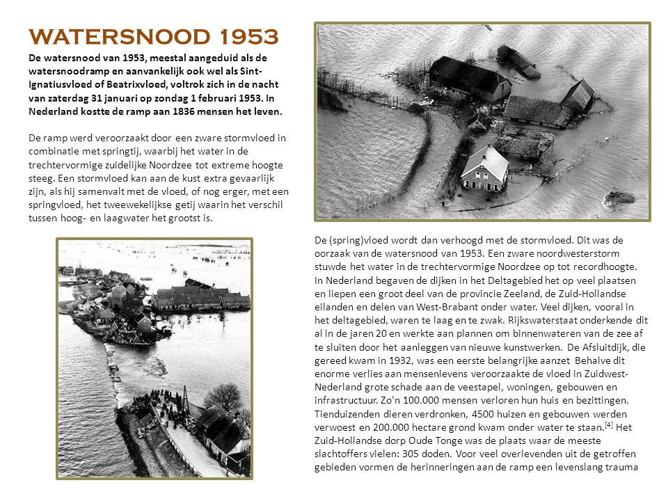 WATERSNOOD 1953