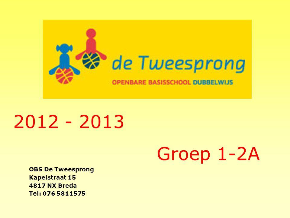 2012 - 2013 Groep 1-2A OBS De Tweesprong Kapelstraat 15 4817 NX Breda