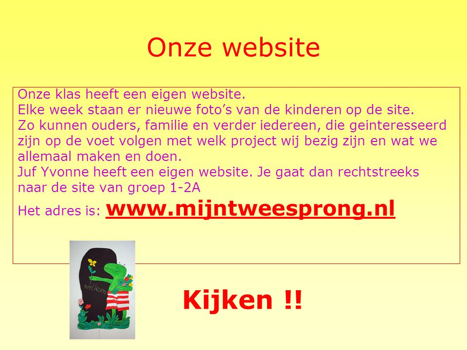 Onze website