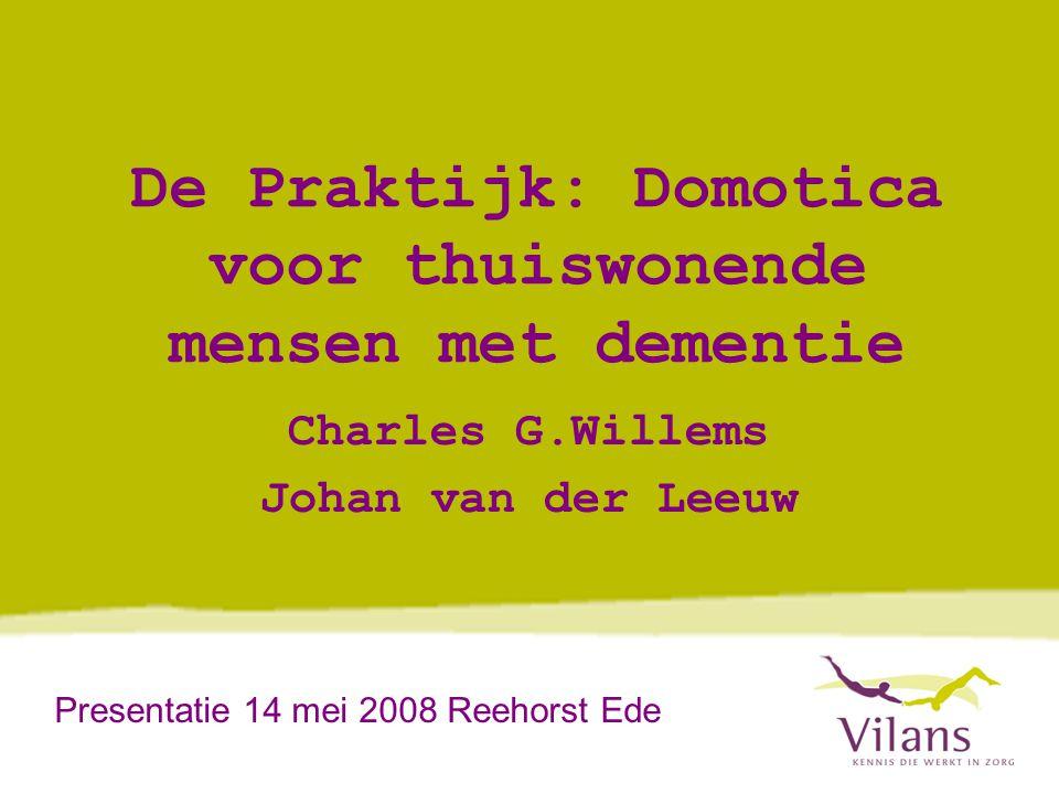 De Praktijk: Domotica voor thuiswonende mensen met dementie
