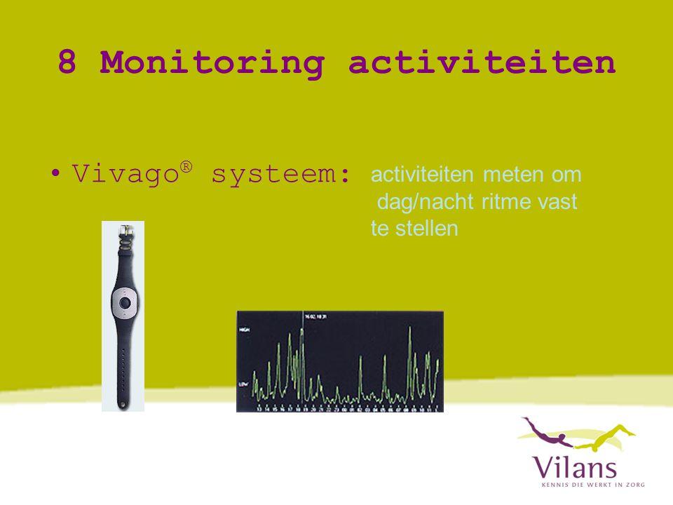 8 Monitoring activiteiten