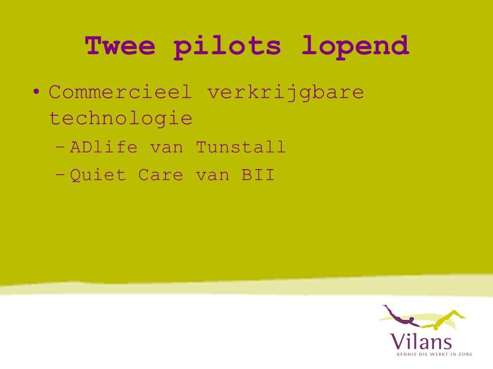 Twee pilots lopend Commercieel verkrijgbare technologie