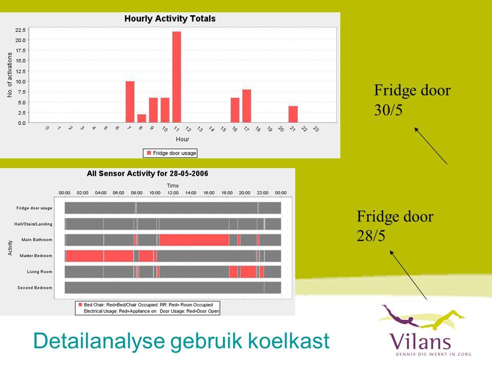 Detailanalyse gebruik koelkast
