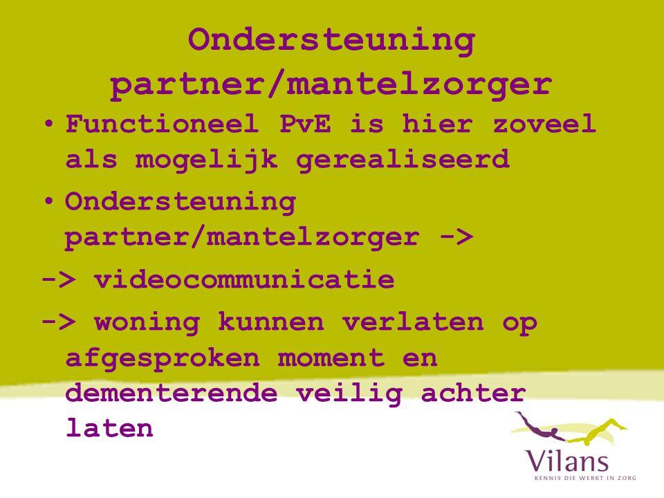 Ondersteuning partner/mantelzorger