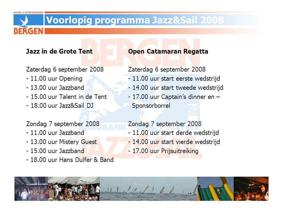 Voorlopig programma Jazz&Sail 2008