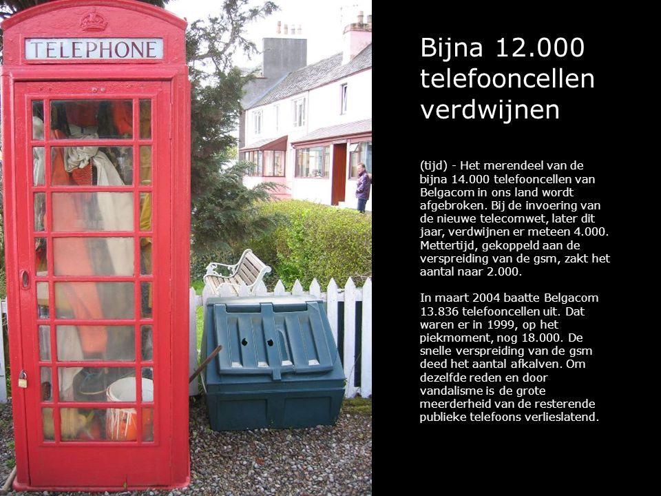 Bijna 12.000 telefooncellen verdwijnen