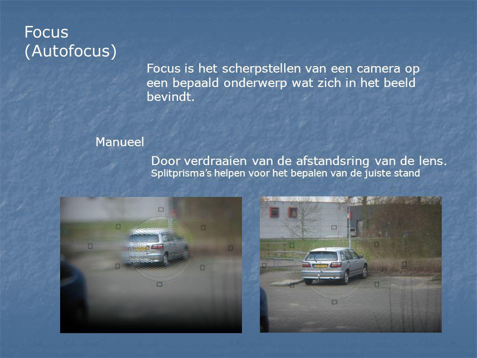 Focus (Autofocus) Focus is het scherpstellen van een camera op een bepaald onderwerp wat zich in het beeld bevindt.